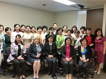 Employees of All-China Women's Federation at the Construction of Women's Rights Protection Mechanism
