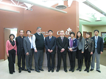 "Organizations with exchange visits in Canada for Dalian Municipal Federation of Trade Union for ""Tripartite Consultation System in Labour Relationship"""