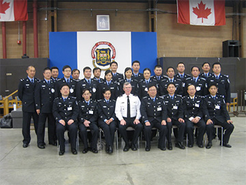 "Organizations with exchange visits in Canada for Shanghai Municipal Bureau of Public Security for ""Police Drillmaster"""
